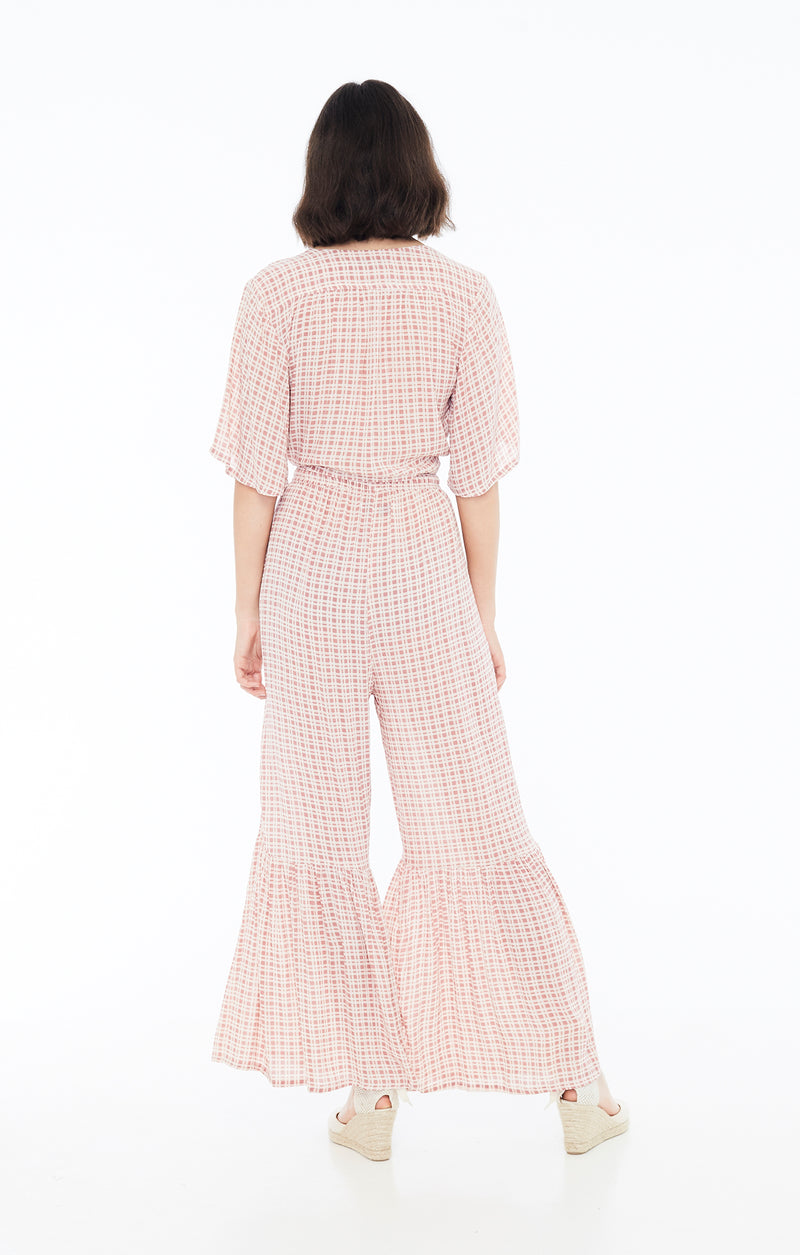 Faithfull The Brand - Boulevards Top - Vintage Pink Check Print