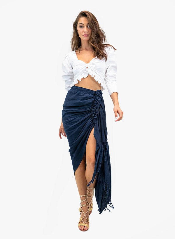 Just Bee Queen - Tulum Skirt - Navy