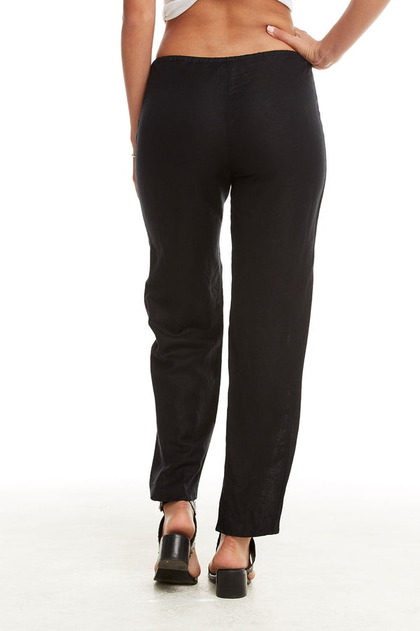 Chaser The Brand - Linen Tulip Pants - True Black