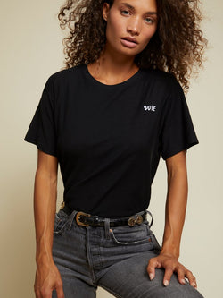 Nation LTD - Jerri Relaxed Boxy Vote Tee - Jet Black