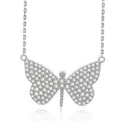 Nicki Roxx Sterling Silver Jill Butterfly Necklace