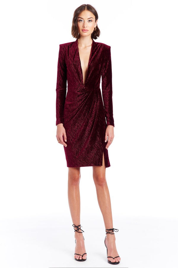 Amanda Uprichard - Joaquin Dress - Tiger Velvet