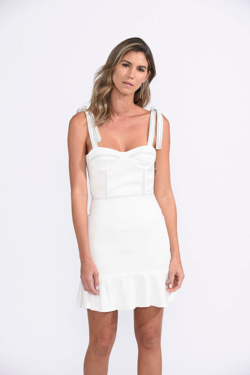 Karina Grimaldi - Angelica Solid Mini - White