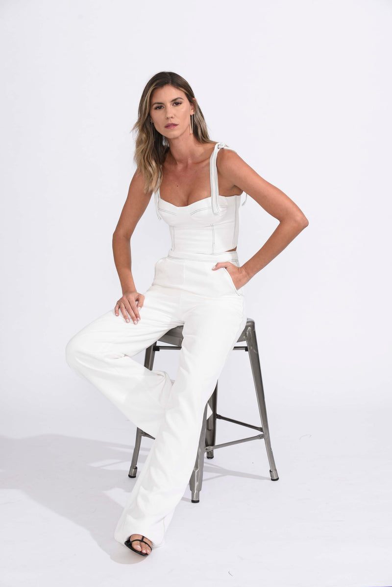 Karina Grimaldi - Angelica Crop Top - White