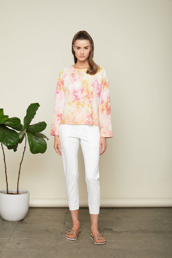 Sundays - Washed Knight Top - Coral/Citron