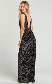 SHOW ME YOUR MUMU - LEONA JUMPSUIT - GLITTER CHEETAH