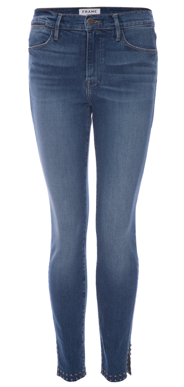 Frame - Le High Skinny Raw Slit Studs - Hazelwood