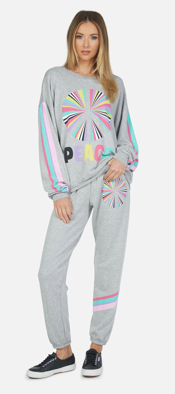 Lauren Moshi - Brynn Long Sweatpants - Rainbow