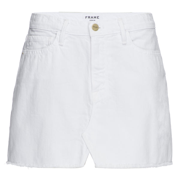 FRAME - LE MINI SKIRT SPLIT FRONT - BLANC