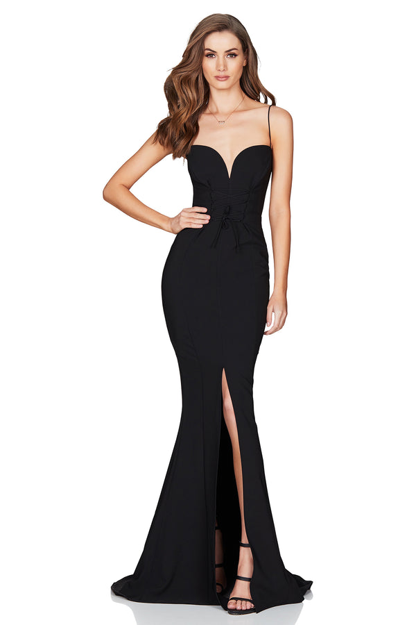 NOOKIE - LONDON GOWN - BLACK