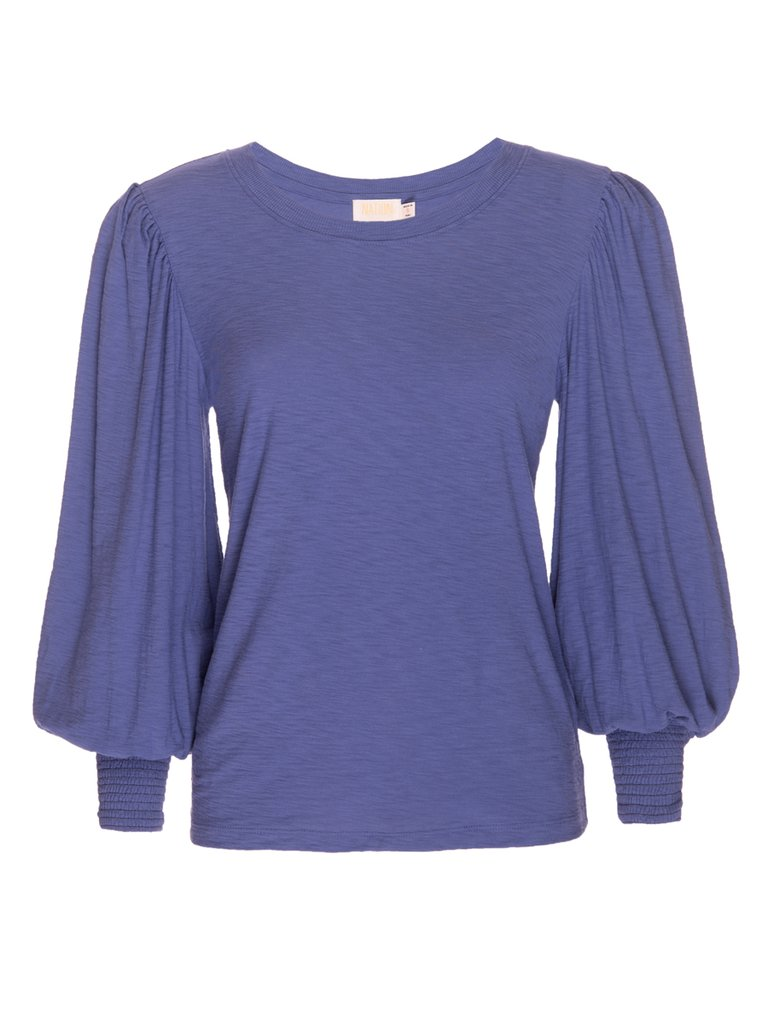 Nation LTD - Loren Smocked Peasant Tee - Periwinkle