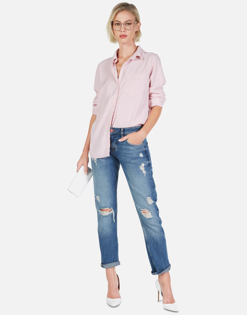 Lauren Moshi - Sloane Button Up Shirt - Pink Nectar