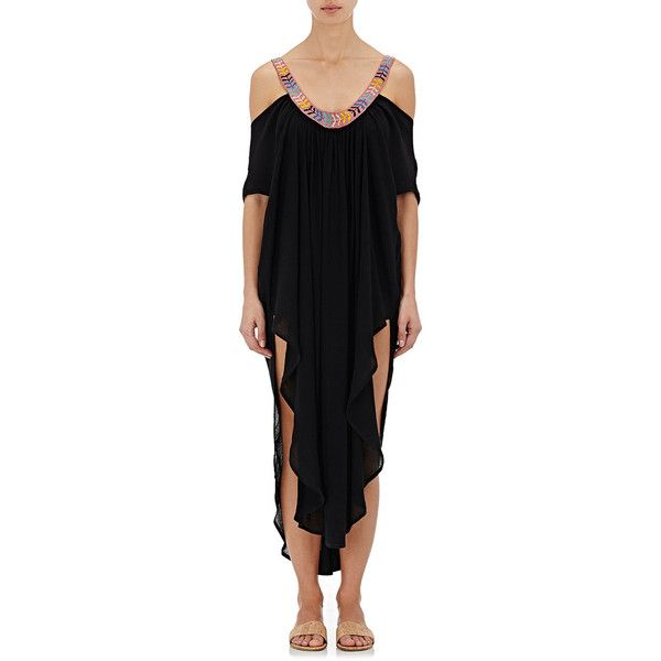 MARA HOFFMAN - OFF THE SHOULDER CAFTAN - BLACK
