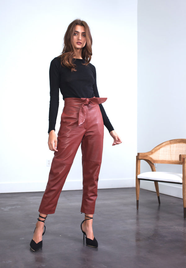 Karina Grimaldi - Stella Leather Pants - Caramel