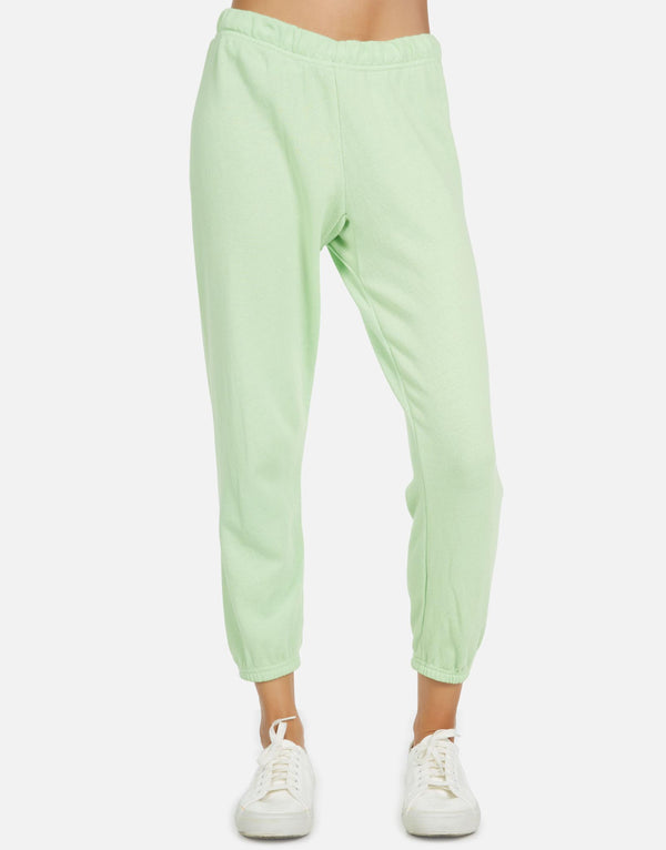 Michael Lauren - Nate Crop Sweatpant - Slime Green