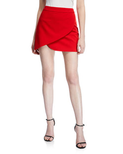 Alice + Olivia - Dasia Skirt Asymmetrical - Cherry Red