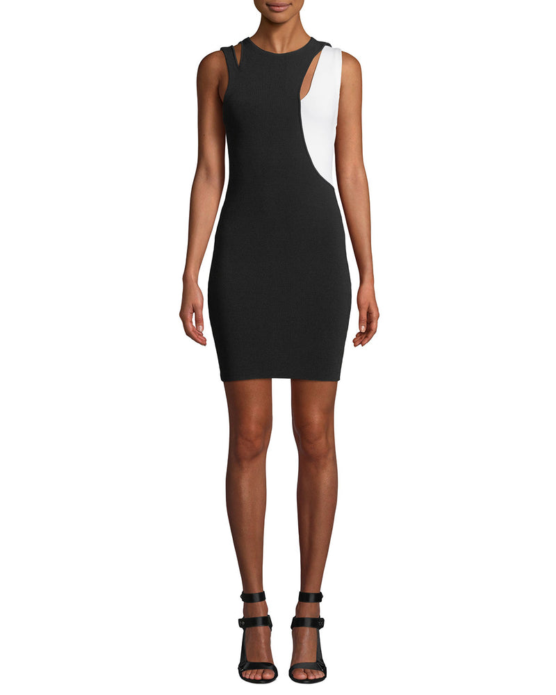 Alice + Olivia - Karla Cut Out Dress - Black/White