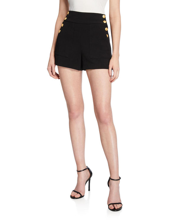 Alice + Olivia - Donald High Waited Shorts - Black