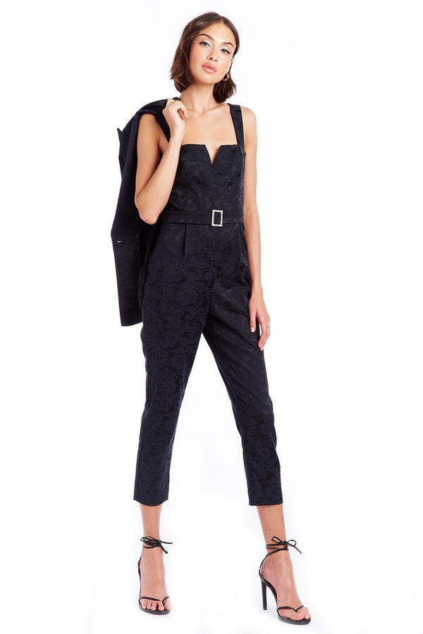 Amanda Uprichard - Nia Jumpsuit - Rose Jacquard
