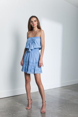 Karina Grimaldi - Ollie Embellished Mini Dress - Blue