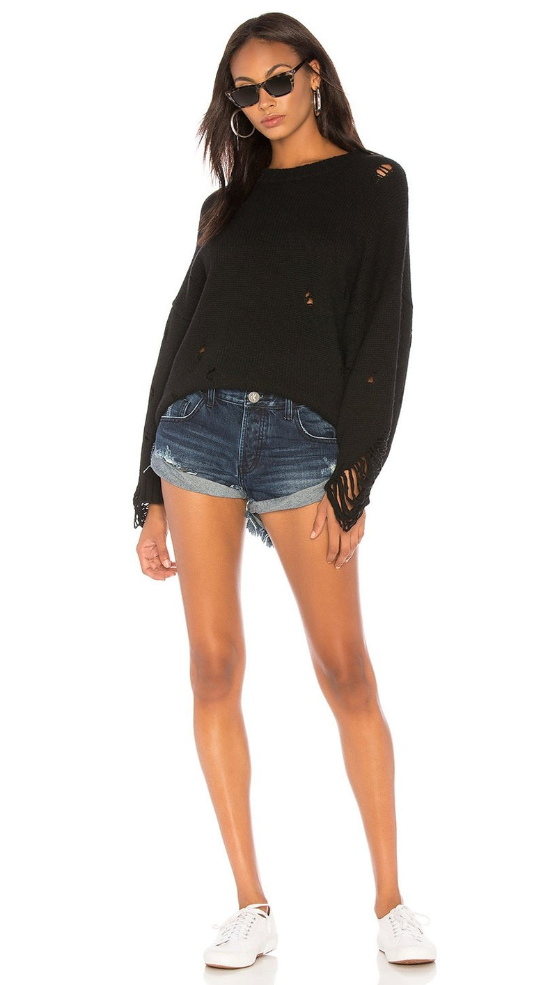 ONE TEASPOOON - BANDITS DENIM SHORTS - LONE STAR