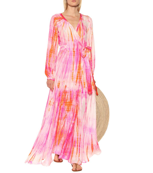 Anna Kosturova - Long Sleeve Wrap Maxi - Sunrise