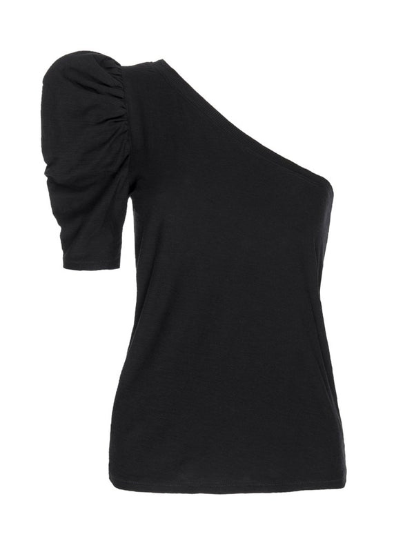 Nation LTD - Paulina One Shoulder Tee - Jet Black