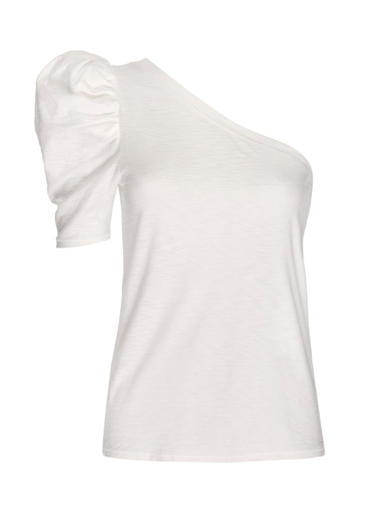 Nation LTD - Paulina One Shoulder Tee - Off White