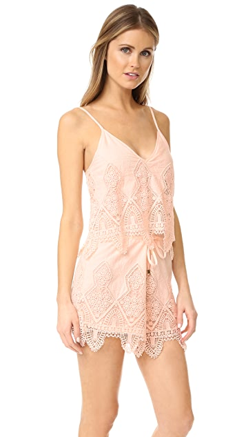SUBOO - PRAIRIE PLAYSUIT - PEACH
