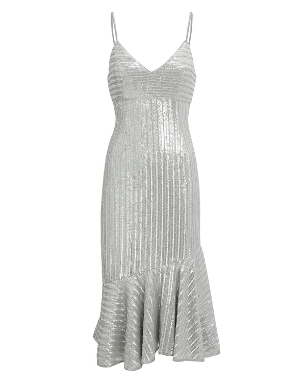 Saylor - Peggie Sequin Dress - Silver