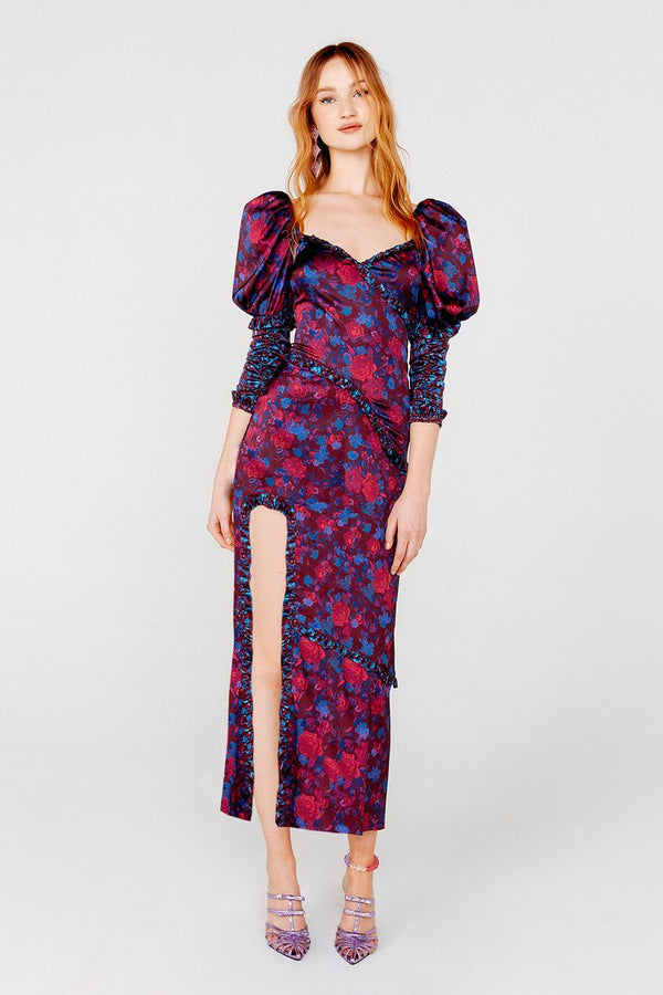 For Love & Lemons - PIXIE MAXI DRESS - Tinsel Floral