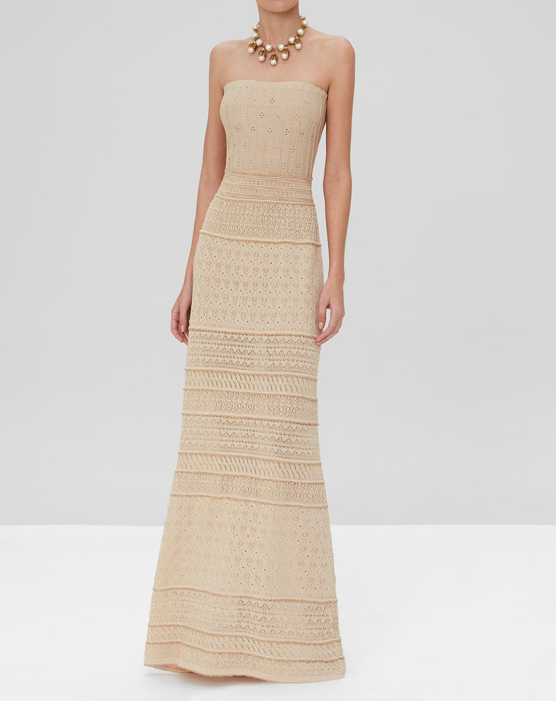 Alexis - Pollie Long Dress - Dusty Gold