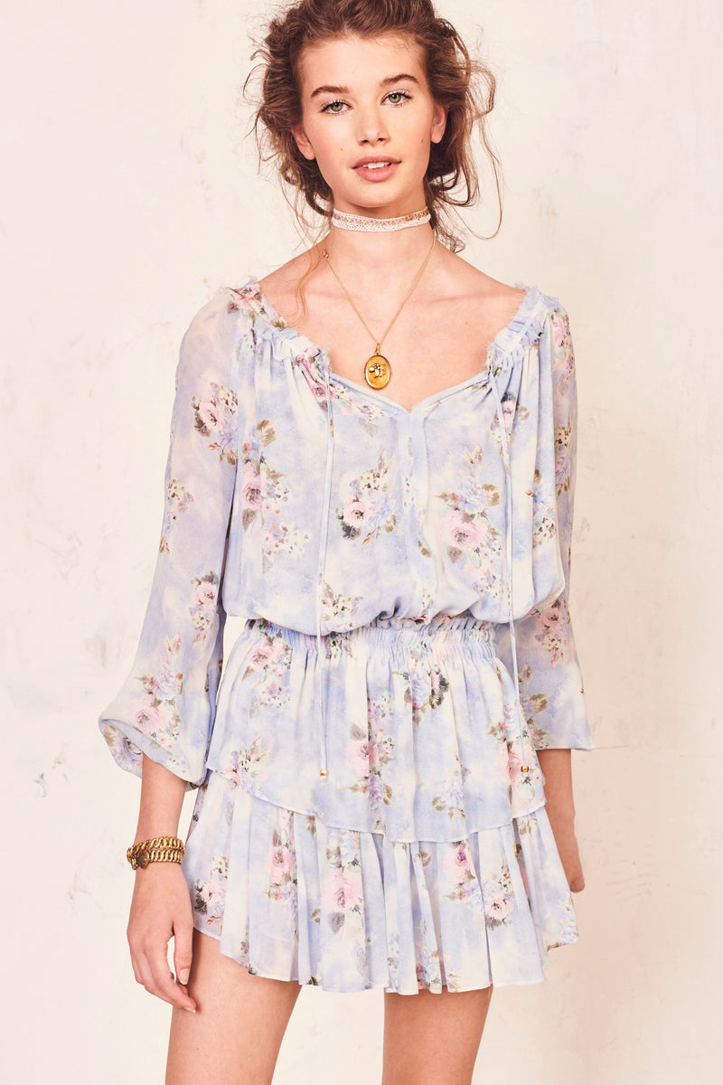 LoveShackFancy - Popover Dress - Water Petals