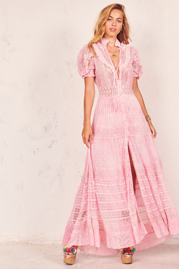 LoveShackFancy - Priya Dress - Pink Fizz