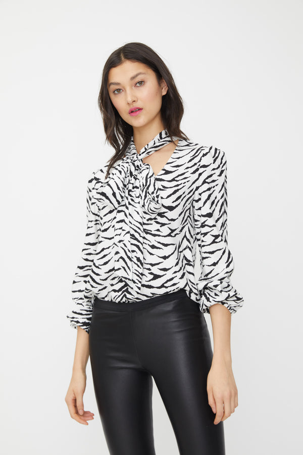 Generation Love - Peggy Zebra Top - White/Black