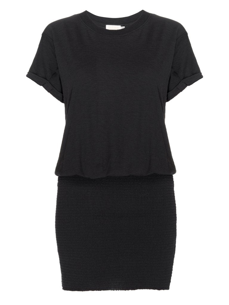 Nation LTD - Riva Smocked T-Shirt Dress - Jet Black