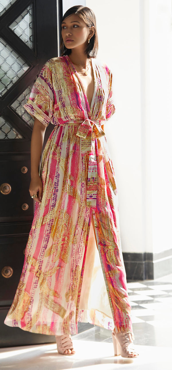 Rococo Sand - Cherie Maxi Dress - Pink and Purple