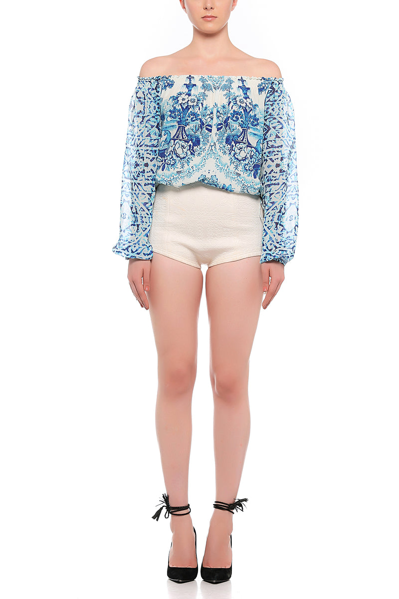 Rococo Sand - Oriental Labyrinth Top - Blue