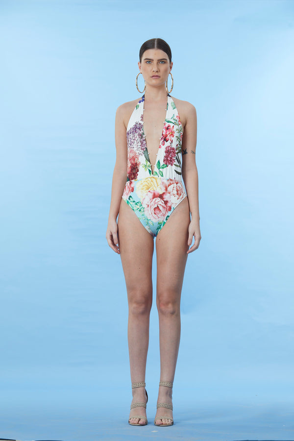 Rococo Sand - Trinity Body Suit - Colorful Floral