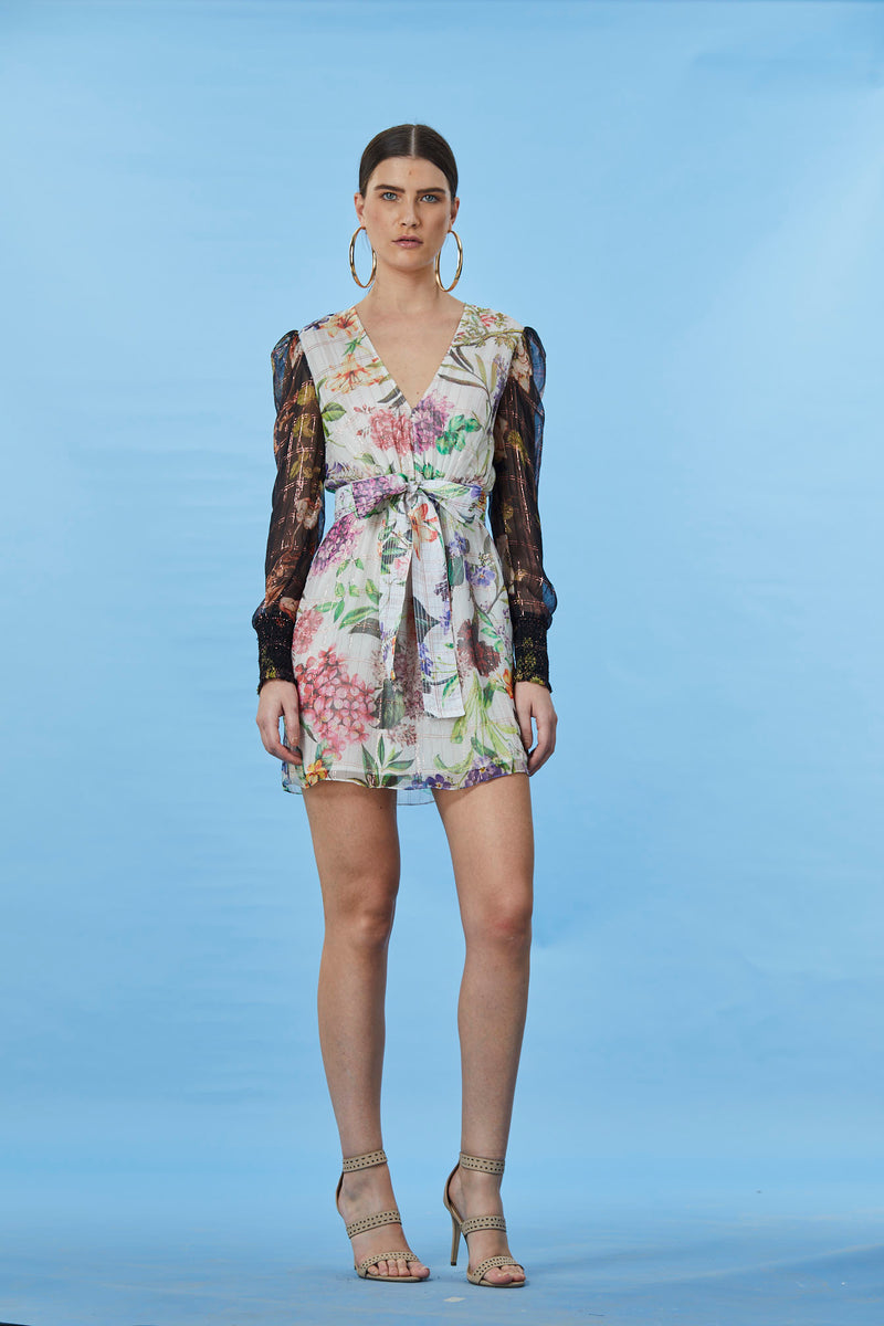 Rococo Sand - Trinity Short  Dress - Colorful Floral