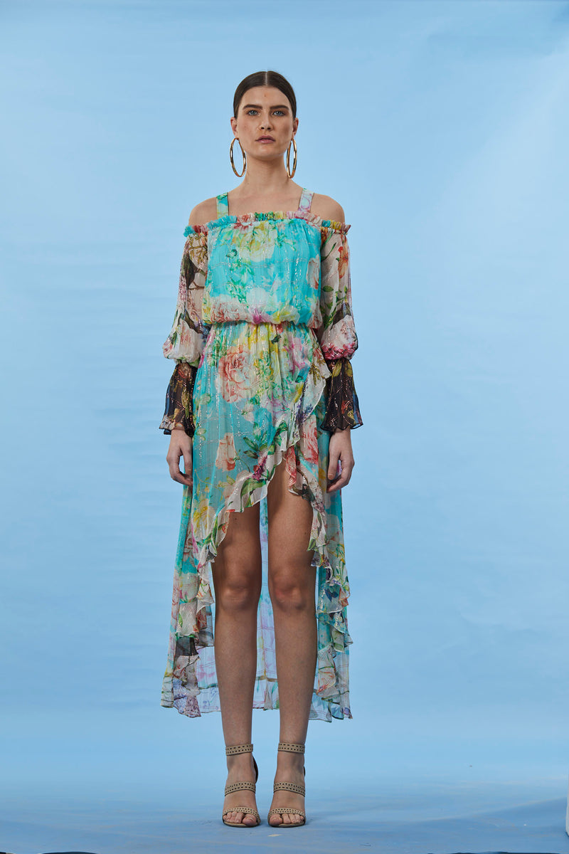 Rococo Sand - Trinity Long Dress - Colorful Floral