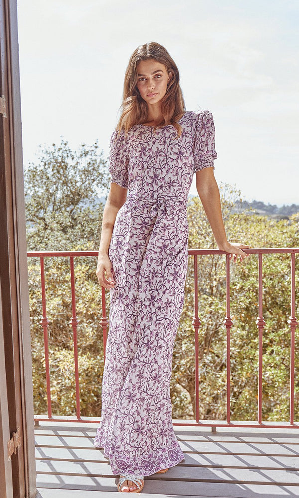 SAYLOR - RYLAND MAXI DRESS - PURPLE