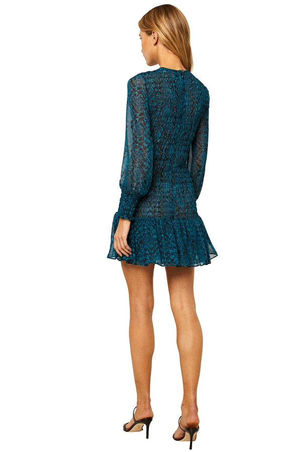 Misa - Roisin Dress - Teal Snake