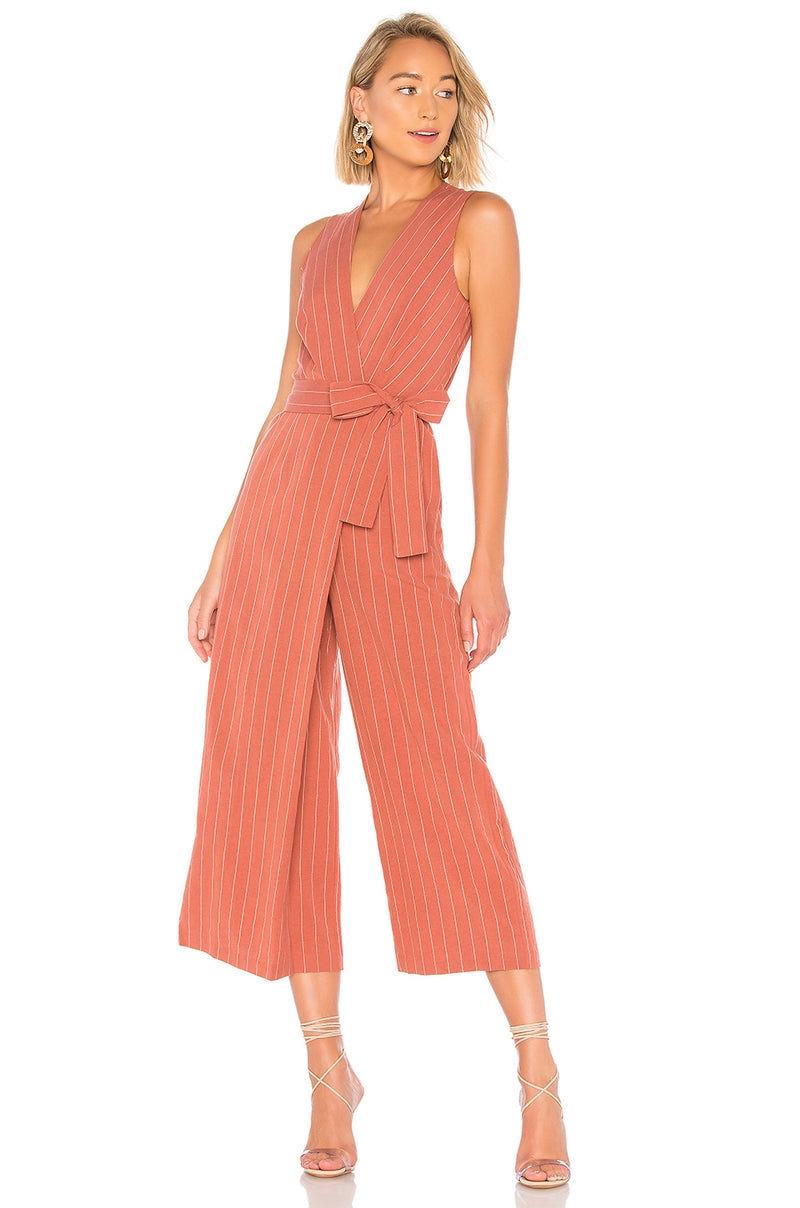 Saylor - Emery Jumpsuit - Rust
