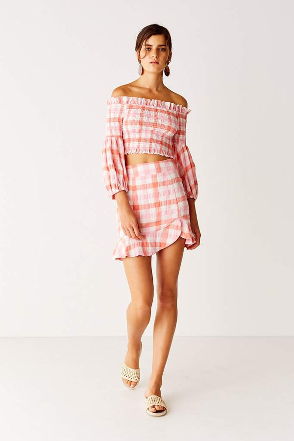 Suboo - Sundown Mini Skirt - Pink Check