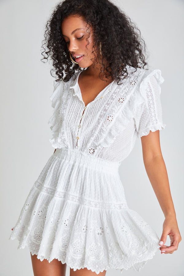 Loveshackfancy - Sheldon Dress - Antique White
