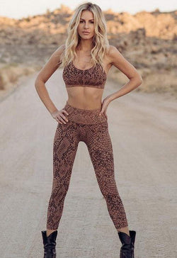 TLA BY MORGAN STEWART - COPPERHEAD SNAKE SKIN LEGGING