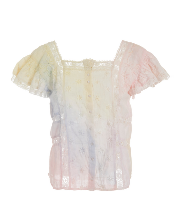 Loveshackfancy - Steffi Top - Multi Tie-Dye