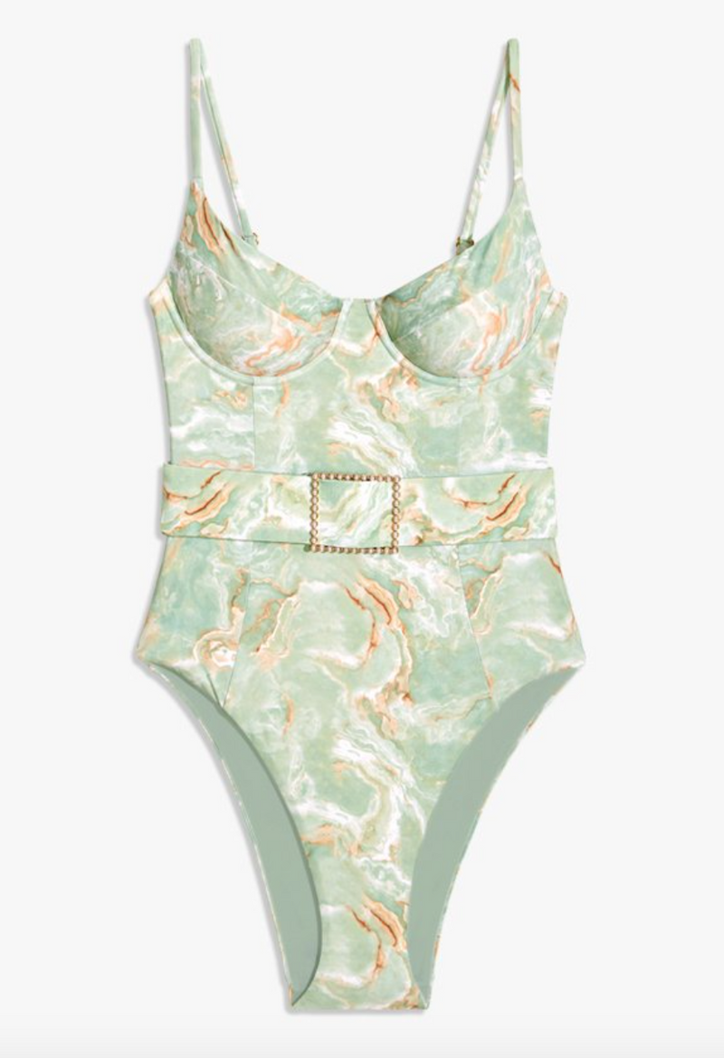 WeWoreWhat Danielle One Piece - Frosty Green