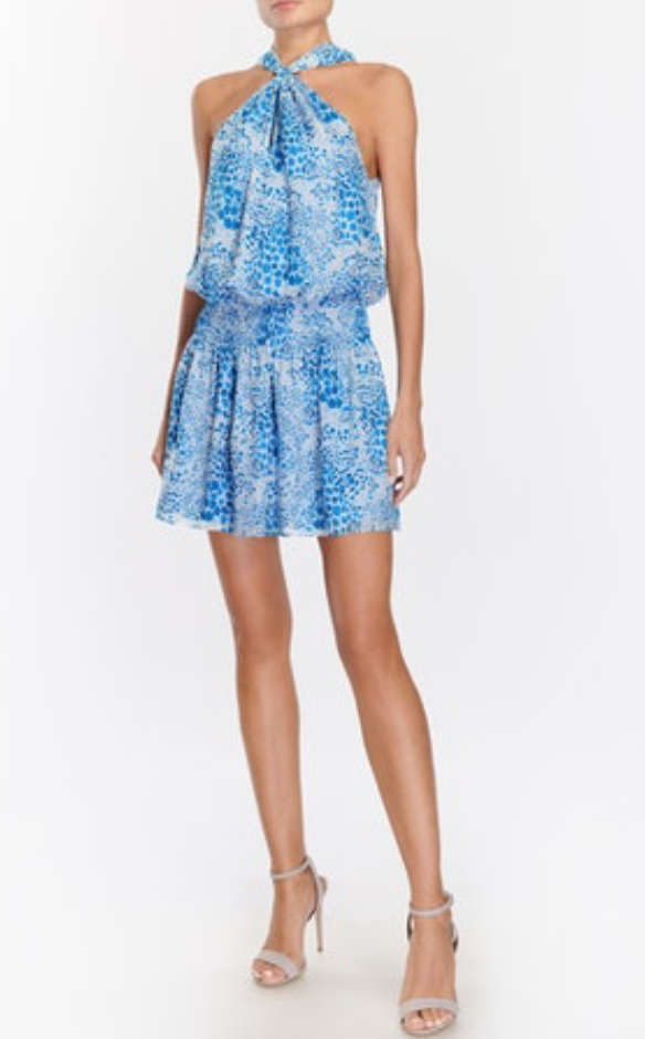 Ramy Brook Printed Ember Dress - Cerulean
